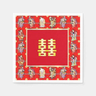 chinese wedding good luck serviettes napkins paper napkin