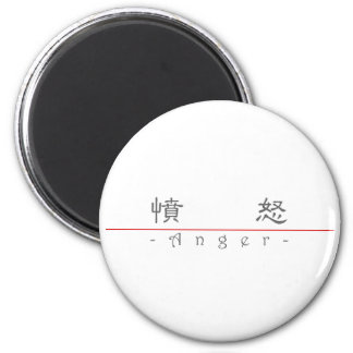 Chinese word for Anger 10037_2 pdf Fridge Magnets