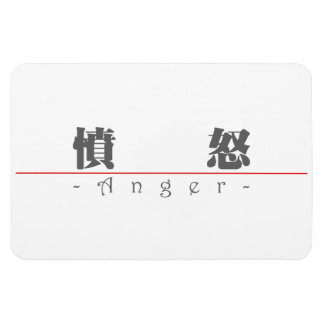 Chinese word for Anger 10037_3.pdf Vinyl Magnets