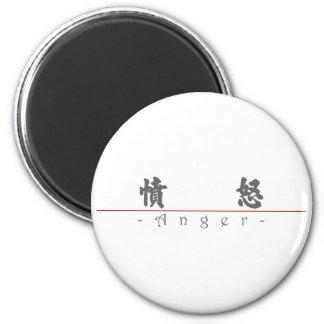 Chinese word for Anger 10037_4 pdf Fridge Magnet