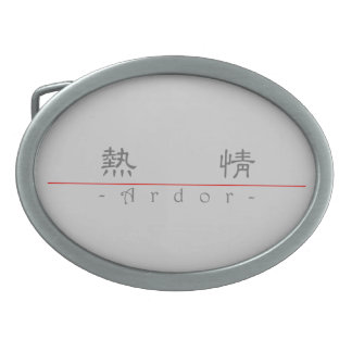 Chinese word for Ardor 10170_2.pdf Oval Belt Buckles