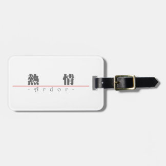 Chinese word for Ardor 10170_3 pdf Travel Bag Tags