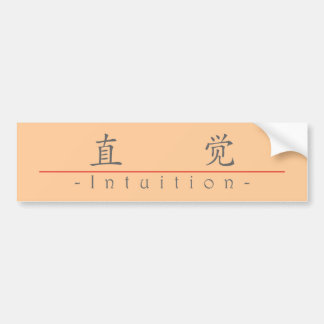 Chinese word for Intuition 10303_1 pdf Bumper Sticker