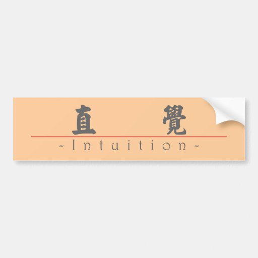 Chinese word for Intuition 10303_4.pdf Bumper Sticker