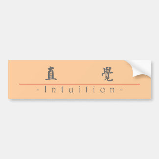 Chinese word for Intuition 10303_5.pdf Bumper Sticker