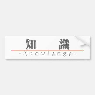 Chinese word for Knowledge 10046_3.pdf Bumper Stickers