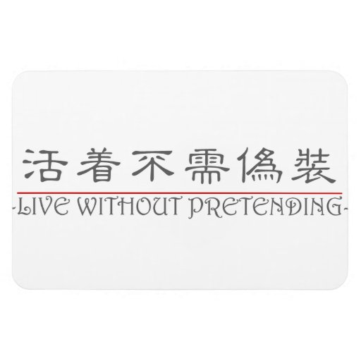 Chinese word for LIVE WITHOUT PRETENDING 10224_2.p Vinyl Magnet