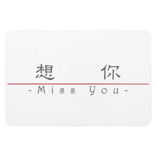 Chinese word for Miss You 10290_2.pdf Vinyl Magnet