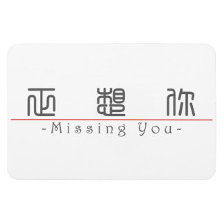 Chinese word for Missing You 10295_0.pdf Vinyl Magnets