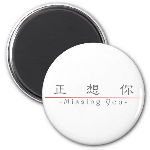 Chinese word for Missing You 10295_2.pdf Fridge Magnets
