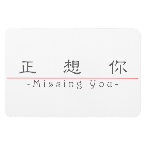 Chinese word for Missing You 10295_2.pdf Magnet