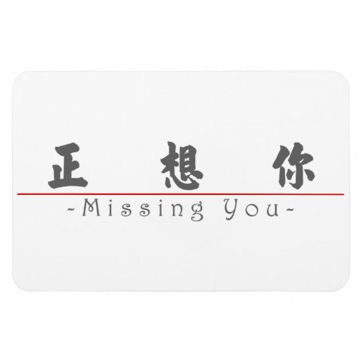 Chinese word for Missing You 10295_4.pdf Flexible Magnets