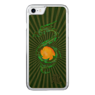 Chinese Year of the Dragon Jade Green Carved iPhone 7 Case