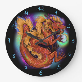 Chinese Year of the Dragon Large Clock