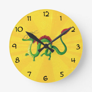 Chinese Year of The Dragon Round Clock
