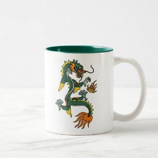 Chinese Year of the Dragon Two-Tone Coffee Mug