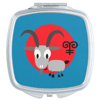 Chinese Year of the Goat Fun Gift Compact Mirrors