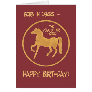 Chinese Year of the Horse Birthday Card, 1966 Greeting Card