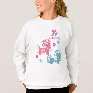 Chinese Year of the Horse Fun Kids Sweatshirts