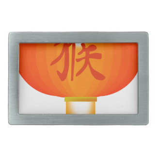 Chinese Year of the Monkey Paper Lantern Belt Buckle