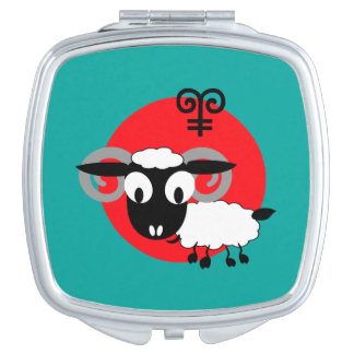 Chinese Year of the Ram Fun Gift Compact Mirrors