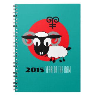 Chinese Year of the Ram Fun Gift Notebooks