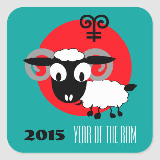 Chinese Year of the Ram Fun Gift Stickers