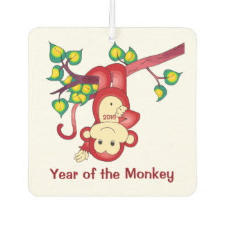 Chinese Year of the Red Monkey Car Air Freshener