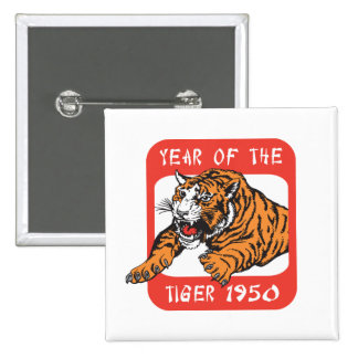 Chinese Year of The Tiger 1950 Gift 15 Cm Square Badge