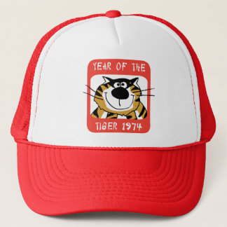 chinese year of the tiger 1974 gift trucker hat - Chinese New Year 1974