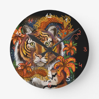 Chinese Year of the Tiger Round Clock