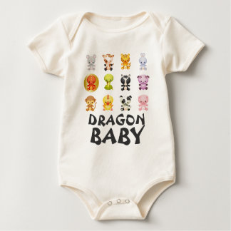 Chinese Zodiac Animals Year of the Dragon Baby Bodysuit