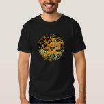Chinese zodiac antique embroidered golden dragon t-shirts