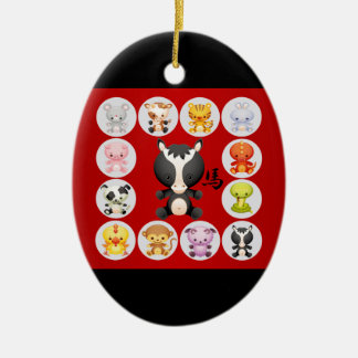 Chinese Zodiac Born in the Year of the Horse Christmas Ornament