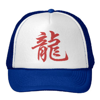 Chinese Zodiac Calligraphy Dragon Gift Cap