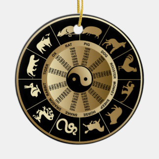 Chinese Zodiac Chart Christmas Ornament