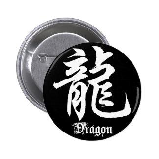 Chinese Zodiac Dragon Character 6 Cm Round Badge