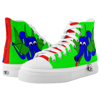 Chinese zodiac dragon high tops