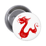 CHINESE ZODIAC DRAGON PAPERCUT ILLUSTRATION 6 CM ROUND BADGE