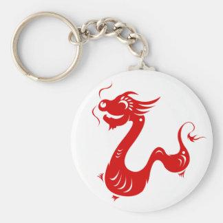 CHINESE ZODIAC DRAGON PAPERCUT ILLUSTRATION KEY RING