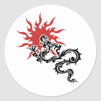 Chinese Zodiac - Fire Dragon Sign Sticker