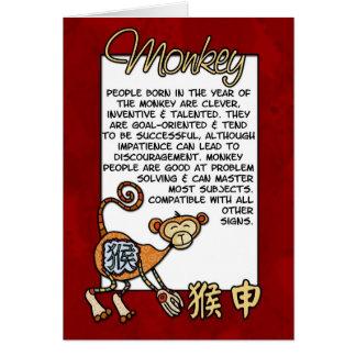 Chinese Zodiac - Monkey Greeting Card