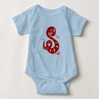 CHINESE ZODIAC PAPERCUT SNAKE ILLUSTRATED SHIRT