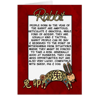 Chinese Zodiac - Rabbit Card