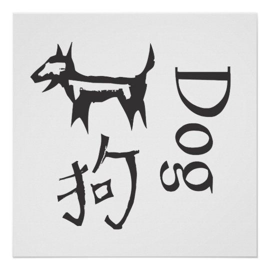 Chinese Zodiac Sign- Dog Poster