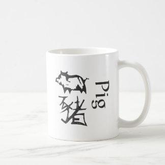 Chinese Zodiac Sign- Pig Basic White Mug