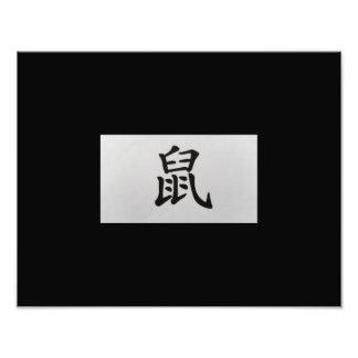 Chinese zodiac sign Rat black Art Photo