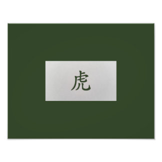 Chinese zodiac sign Tiger green Photograph