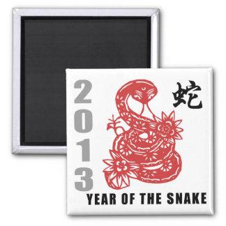 Chinese Zodiac Snake 2013 Magnet