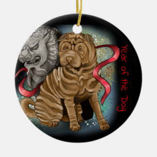 Chinese Zodiac Year of the Dog Christmas Ornament